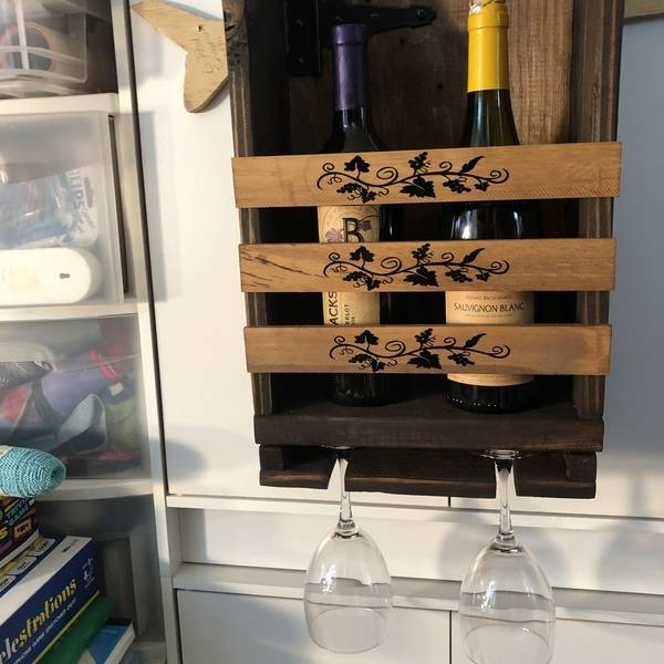Photo: Wine bottle and Glasses Holder