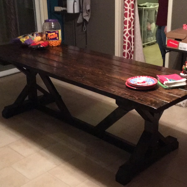 Photo: Fancy X Farmhouse Table