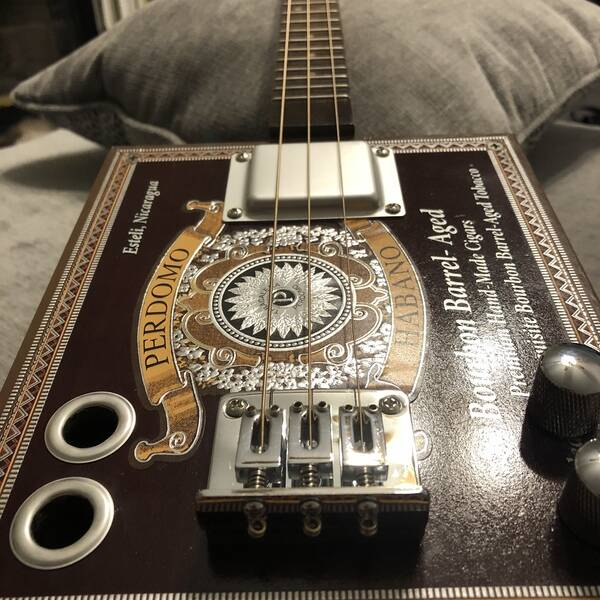 Photo: Campbell Kid Music Cigar Box Guitar