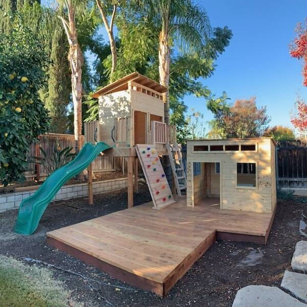 Photo: Custom Modern Playhouse & Fort
