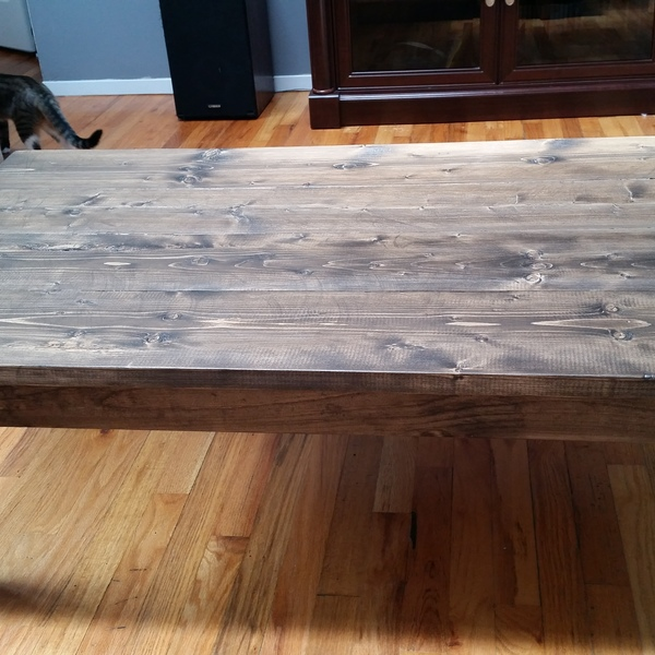 Photo: rustic coffee table
