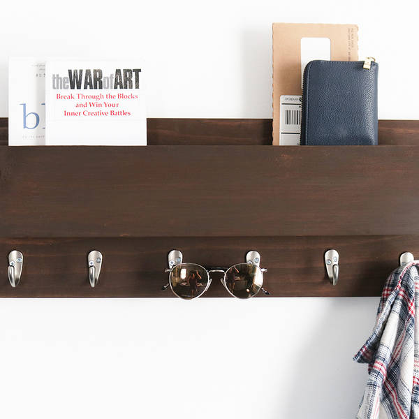 Photo: DIY Coat Rack & Mail Center