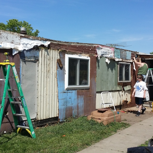 Photo: Refurbishing my trailer home.
