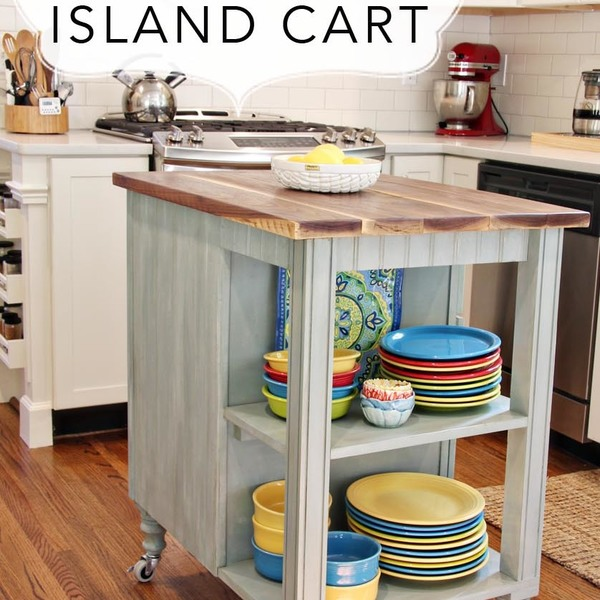 Build Michaela S Kitchen Island Diy Projects: DIY Kitchen Island Cart