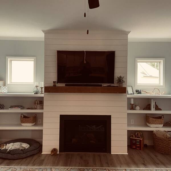Photo: Living room built-in shelves