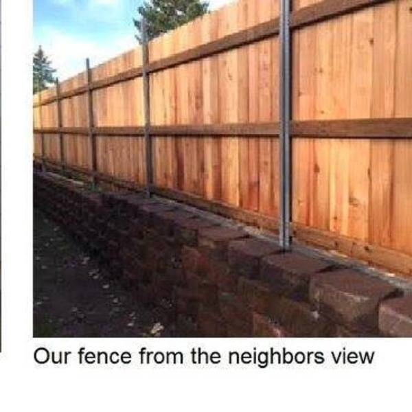 Photo: Retaining block wall and fence rebuild - 2 x 100 ft, 2016