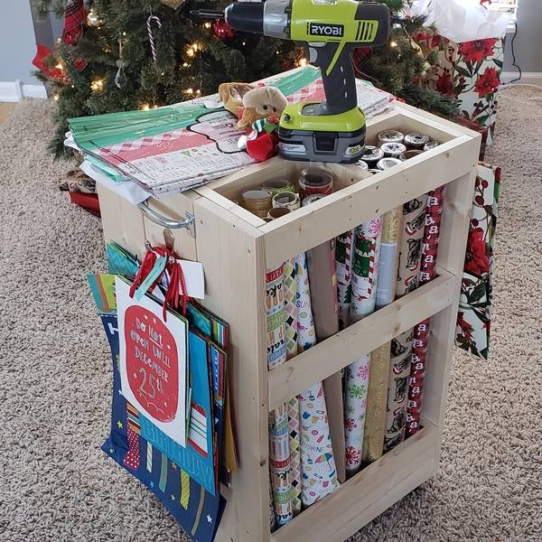 Photo: Rolling Wrapping Paper Cart