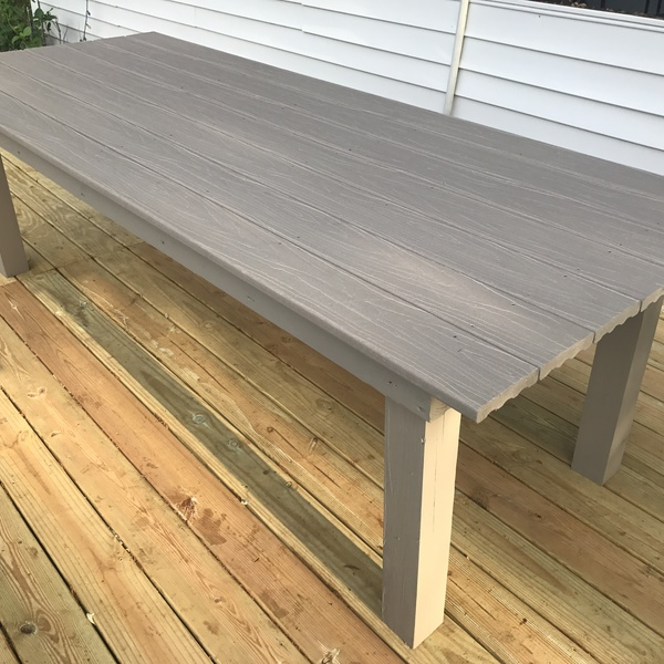 Photo: Farm Table and Bench