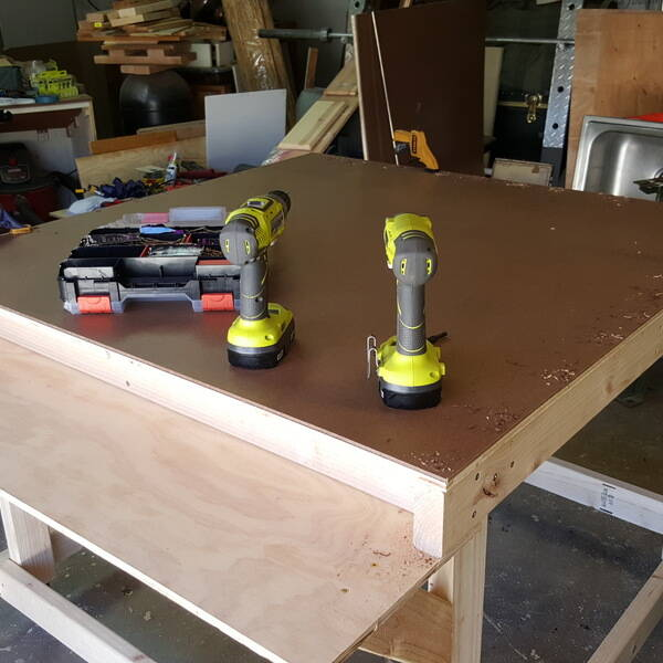 Photo: 4 x 4 work table