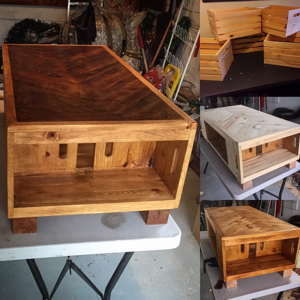 Photo: Wood Crate coffee table
