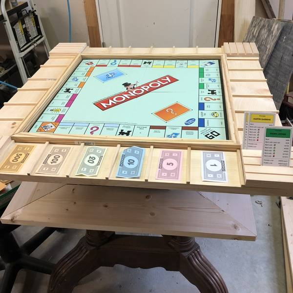 Custom Monopolygame Table Ryobi Nation Projects