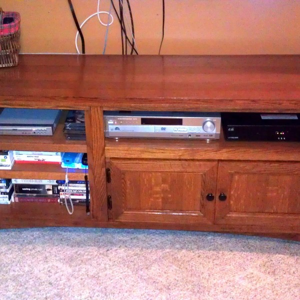 Photo: Reclaimed Entertainment Center - from old to new
