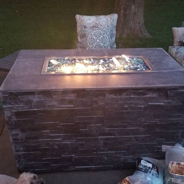 Photo: DIY Easy Fire Pit with Glass Rocks