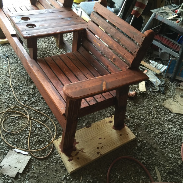Peachy Double Chair Bench Ryobi Nation Projects Caraccident5 Cool Chair Designs And Ideas Caraccident5Info