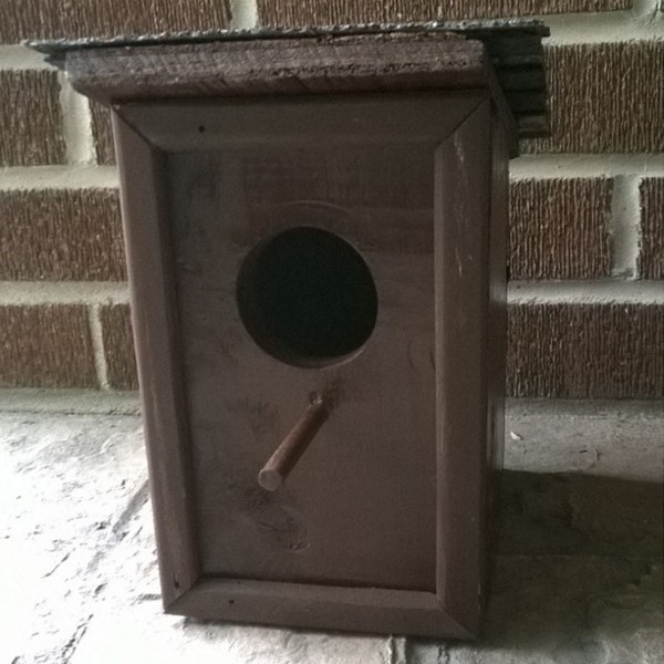 Photo: Tiny Brown Birdhouse