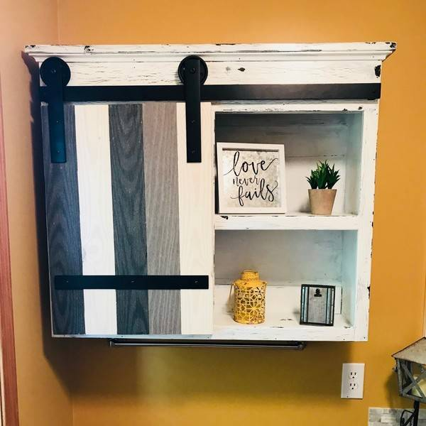 Sliding Barn Door Bathroom Cabinet Ryobi Nation Projects