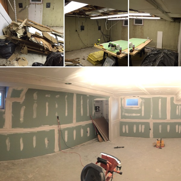 Photo: Full Basement Remodel