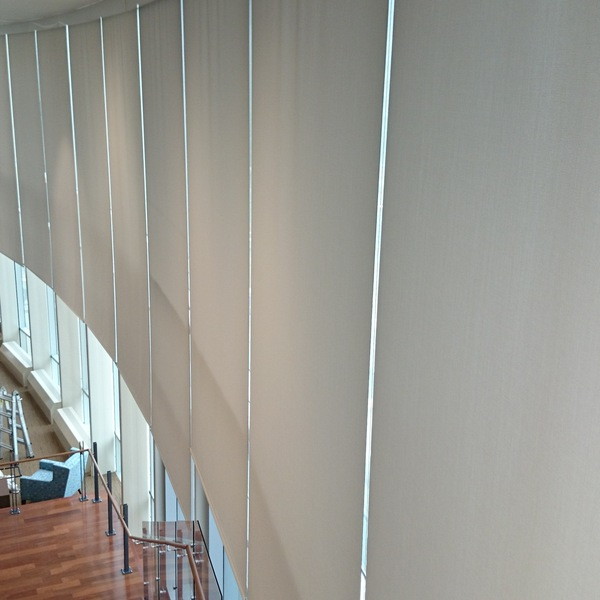 Photo: 30' Motorized Roller Shades