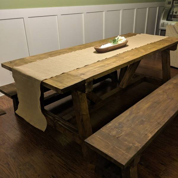 Photo: Shanty2Chic Truss table and benches