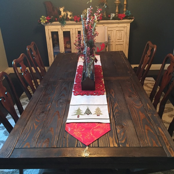 Photo: Large Dining Room Table - Farmhouse Style