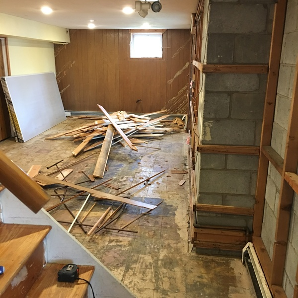 Photo: Basement remodel