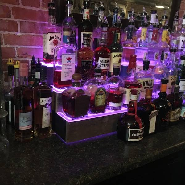 Photo: Backbar Step Shelves