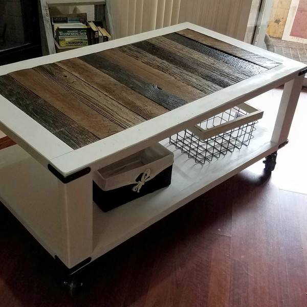 BARN WOOD CART COFFEE TABLE   RYOBI Nation Projects