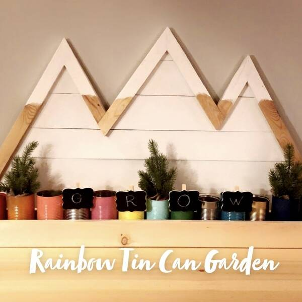 Photo: Rainbow Tin Can Garden