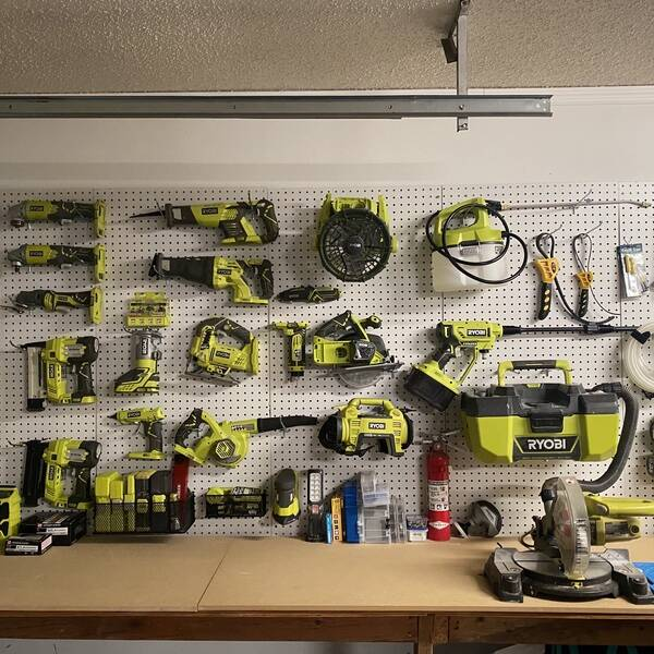 Photo: Wall of Ryobi