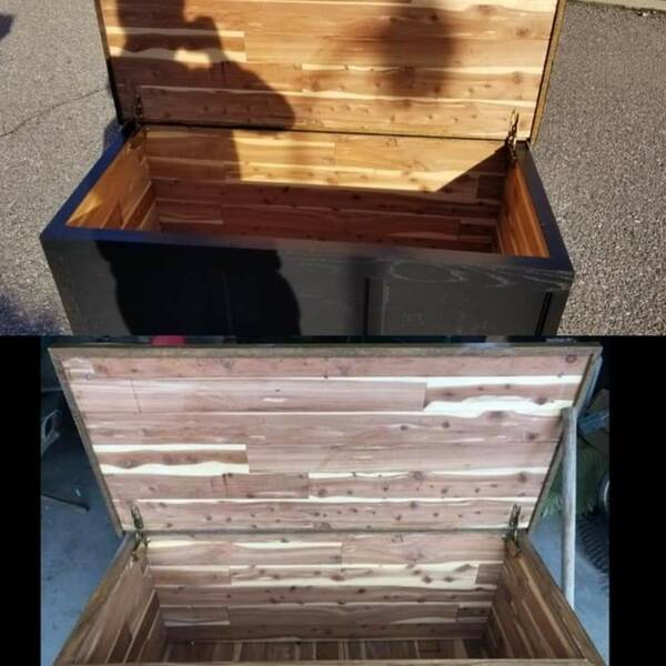 Photo: Refurbished cedar chest