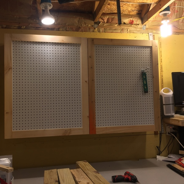 Photo: Pegboard storage Cabinet