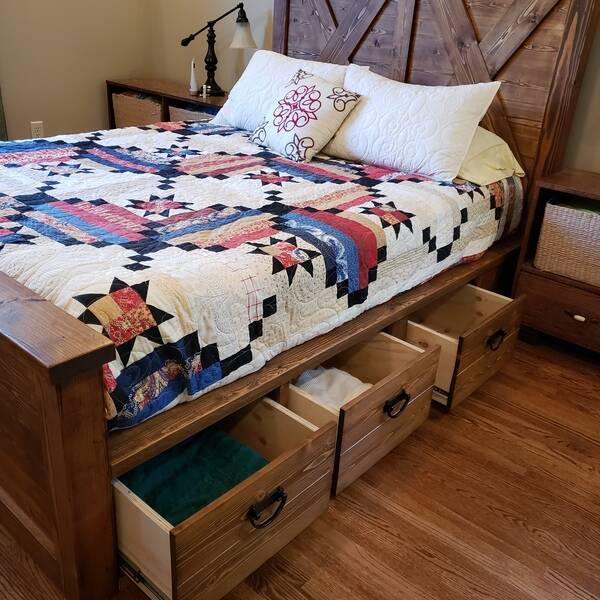 Photo: Queen Size Farmhouse Bed