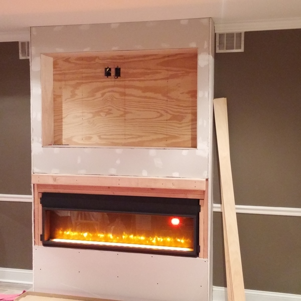 Recessed Tv Electric Fireplace Shelves Ryobi Nation Projects