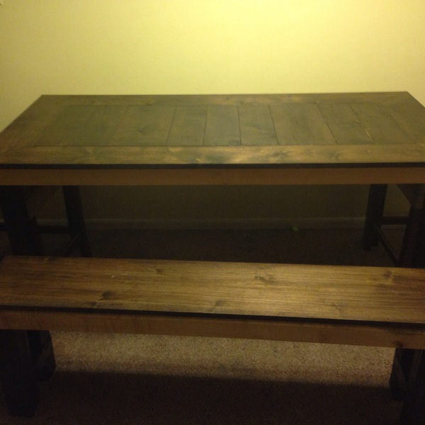 Photo: Farmhouse Table and Bench