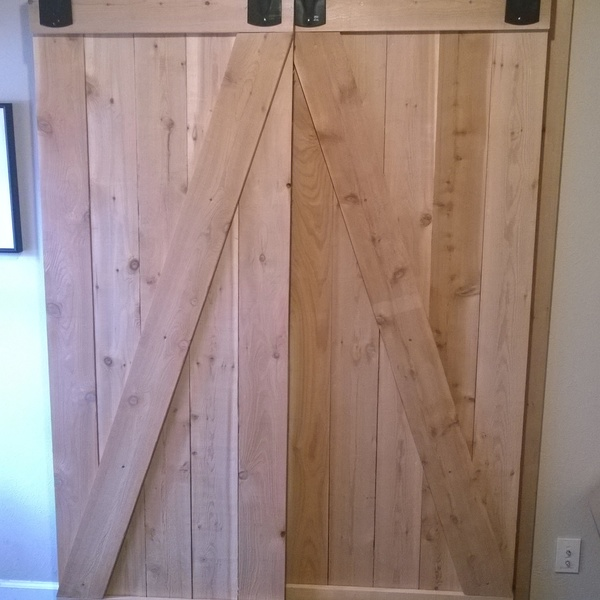 Photo: Custom Built Cedar Barn Doors