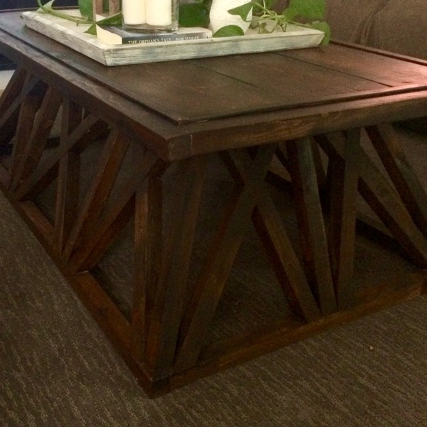 Photo: Restoration Hardware Trestle Door Coffee Table