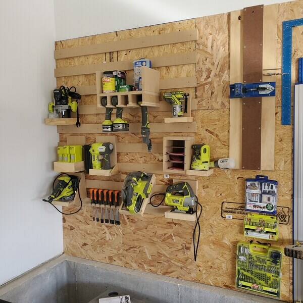 Photo: French Cleat Ryobi Tool Wall