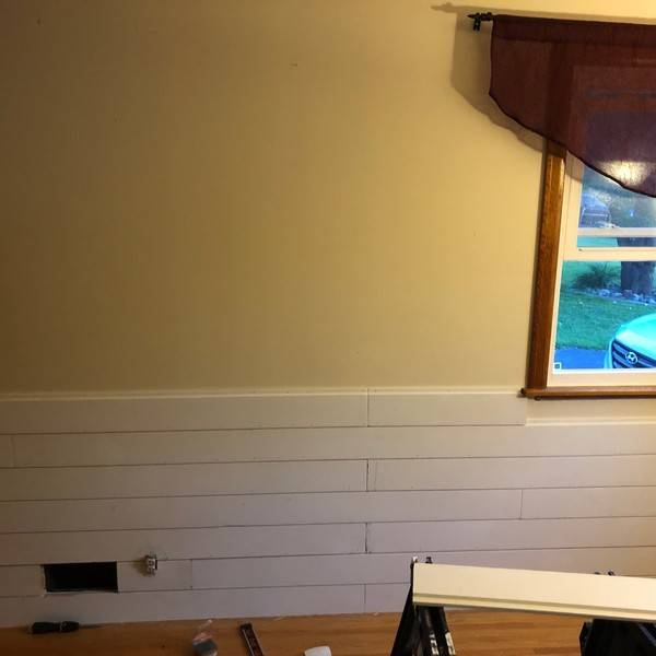 Photo: Shiplap accent wall