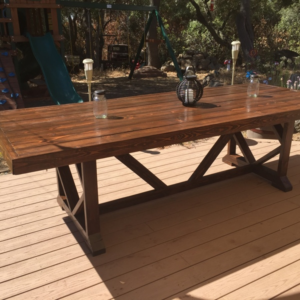 Extra Large Dining Table Seats 10 12 Ryobi Nation Projects