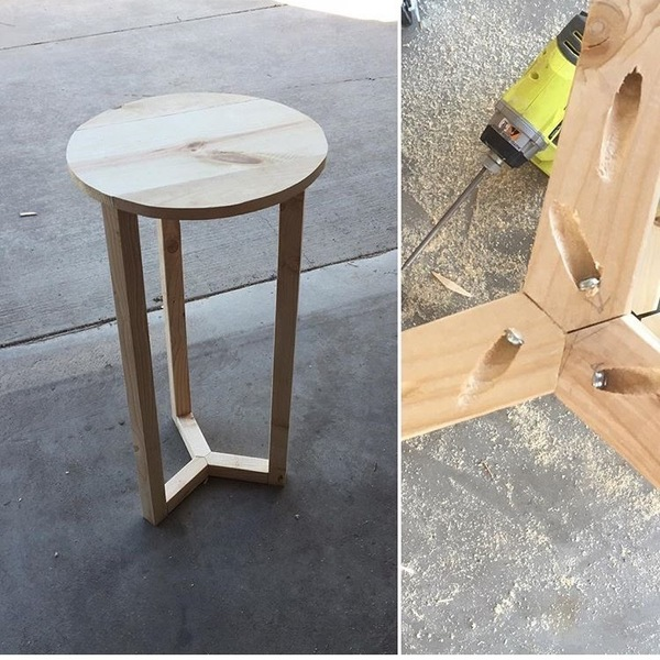 3 Leg Side Table Ryobi Nation Projects
