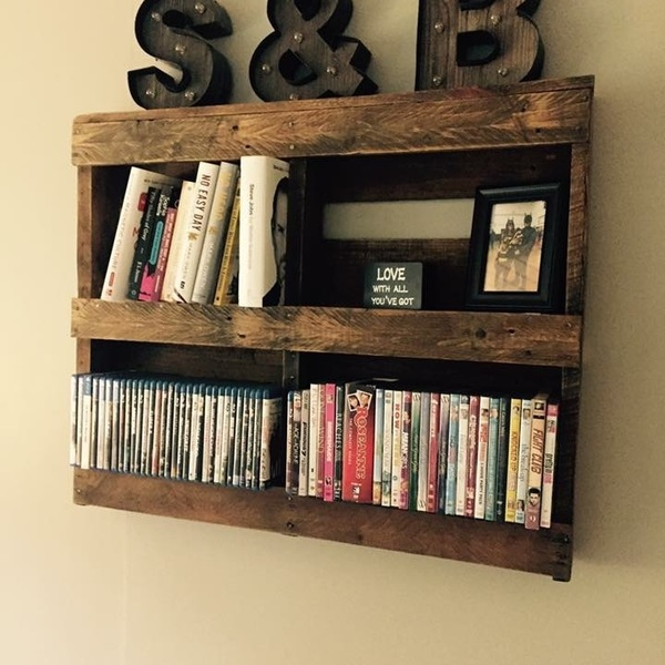 Photo: Pallet dvd rack and shelf