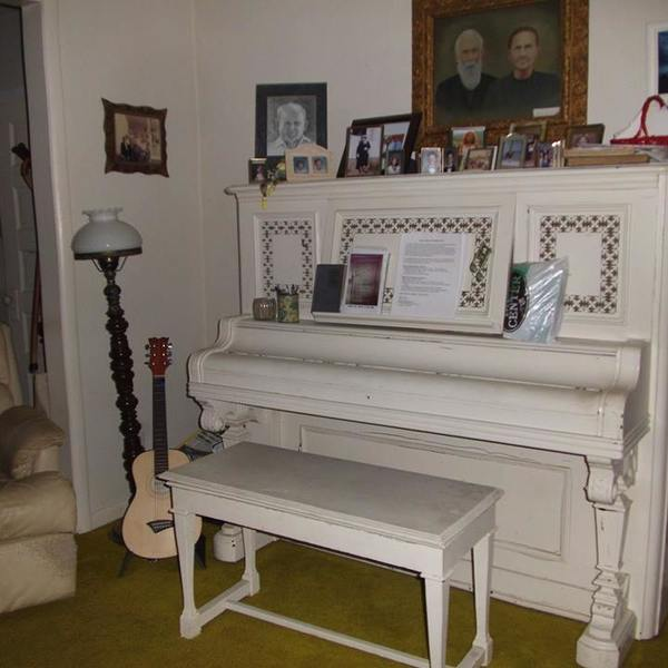Photo: Re-purposed Piano - Table and Coat Rack