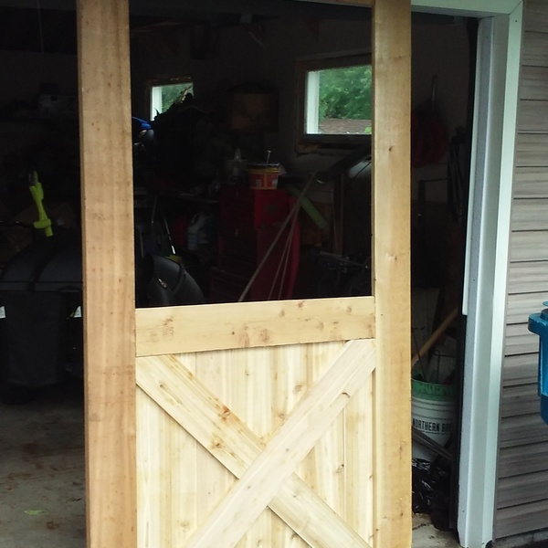 Rough Cedar Barn Door Ryobi Nation Projects