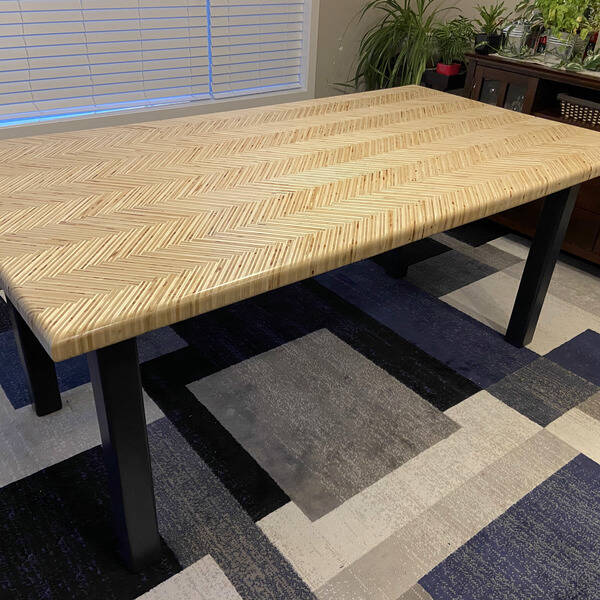 Photo: Plywood Dining Table