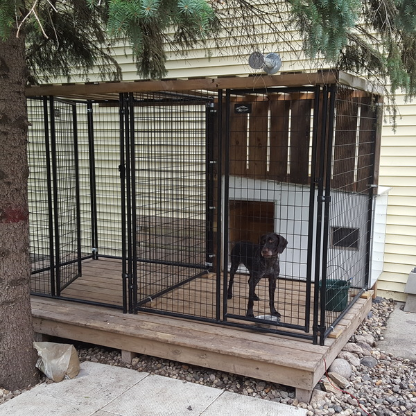 Photo: Dog Deck W Dog house & porch