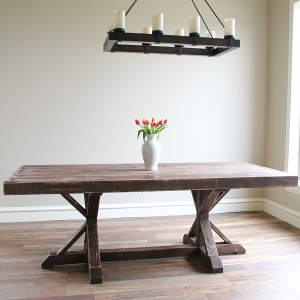 Making Dining Room Table: Restoration Hardware Inspired Dining Table