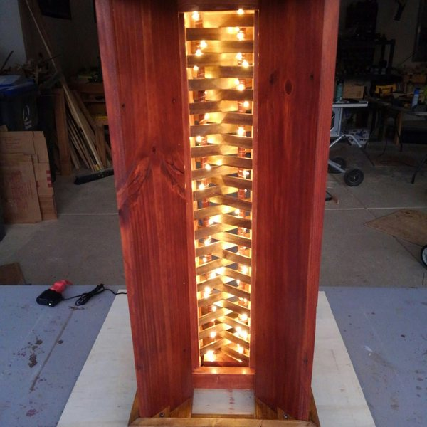 Photo: Fence picket LED accent lamp