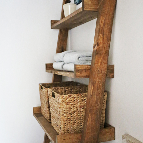 Cool Leaning Bathroom Ladder Shelf Ryobi Nation Projects Beutiful Home Inspiration Truamahrainfo