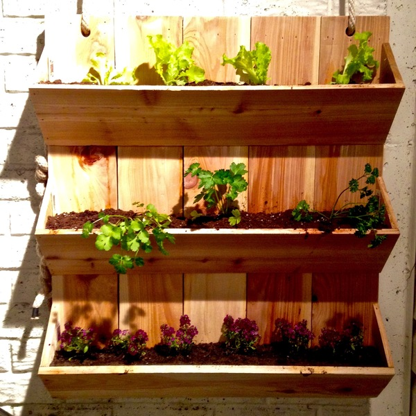 Photo: Cedar Wall Planter