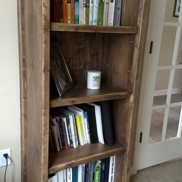 Photo: Rustic Office Bookcase